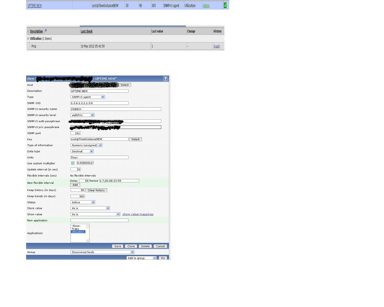 ZBX-5017] ZABBIX:SNMPV3:AES/SHA - ZABBIX SUPPORT