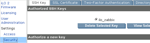 ZBX-6788] Unable monitor iLO through SSH - ZABBIX SUPPORT