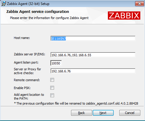 ZBXNEXT-2473] Provide MSI for windows agent - ZABBIX SUPPORT